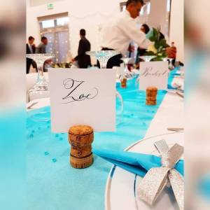 Place card of the name Zoe